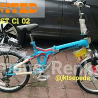 Sepeda Lipat United Quest C1 02 suspensi depan