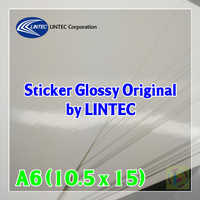 Kertas Sticker Glossy Original by Lintec Japan A6 - High Quality