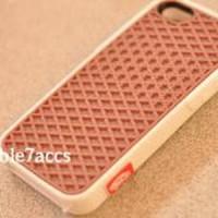 Casing case Iphone 5 Vans sol waffle Coklat Putih Murah