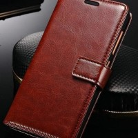 FLIP COVER KULIT Samsung Galaxy A7 2017 A720 case wallet leather hp