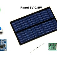 Paket 5 in 1 Modul Kit Powerbank Panel Surya / Solar Cell DIY
