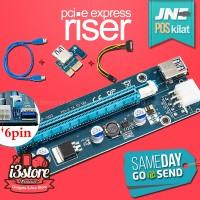 USB 3.0 PCI-E PCIE Express Riser Card 1x to 16x sata 4 kapasitor VGA