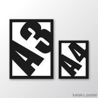 All Poster Ukuran A3 + Bingkai