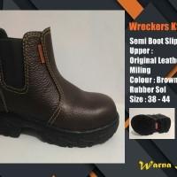 Sepatu Safety Kulit Murah Semi Boot Elastici KS729B SNI Surabaya