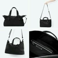 ZARA Trafaluc Shopper Bag Black / Tas Wanita Tote Bag Branded Ori