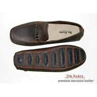 SEPATU CASUAL SLIP ON PRIA DR FARIS BAHAN KULIT ASLI