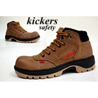Sepatu Boot Kikers safety coklat