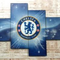 Lukisan Klub Bola Chealsea FC/Hiasan Dinding/Kamar Anak/Dekoratif