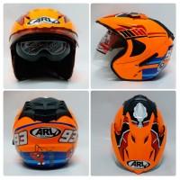 Helm Marc Marquez Orange 93 Baby Alien MotoGP Double Visor ARL SNI