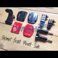Helmet Front Mount Xiaomi Yi, GoPro SJCam Brica Yicam Black BPro