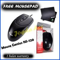 Mouse Genius USB Baru+free Mousepad Logitech