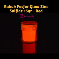 Bubuk Fosfor Glow Zinc Sulfide 15gr - Red