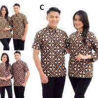 CPT033 Seragam Batik Remaja Katun Couple Baju Wanita Pria Murah Kemeja