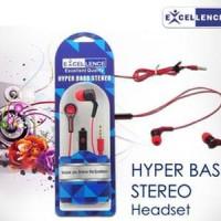 Hyper Bass Excellence Stereo Headset/Earphone MURAH