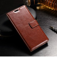LEATHER FLIP COVER WALLET Sony Xperia XZ case hp casing dompet kulit