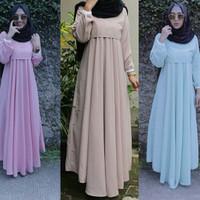 Jual mutiara ruffle maxi maxy gamis baju muslim hijab muslimah pesta mewah Murah