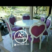 Set kursi makan,meja makan bundar
