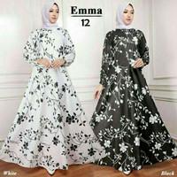 Maxi Emma (12) Baju Muslim Wanita Gamis Model Kekinian Terbaru