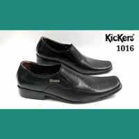 Sepatu Formal Pria - KICKERS 1016 black - Super - Kulit Asli