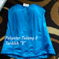 "Bustier Polyster Tulang 8 ""Turkish S"" - Ready Stock Promo"