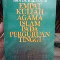 Harga empat kuliah agama islam pada perguruan tinggi hm rasjidi | WIKIPRICE INDONESIA