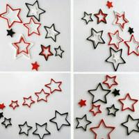 Jual 3D wall stiker hiasan dinding bentuk bintang dari kayu aneka warna Murah