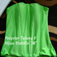 "Bustier Polyster Tulang 8 ""Hijau Stabillo M"" - Ready Stock Promo"
