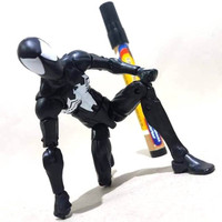 Mainan action figure Black spiderman Marvel legends loose By hasbro Ti