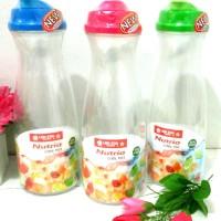 Botol besar nutria 1200 ml/botol kulkas/botol lemari es BPA Free flip