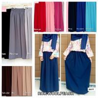 rok polos panjang wanita maxi maxy long skirt hijab muslim muslimah