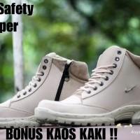 SEPATU PRIA NIKE GRAND SAFETY BOOTS BIKERS STEEL TOE / UJUNG BESI