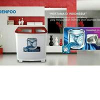 Mesin Cuci 2 Tabung Denpoo DW-9893 PLATINUM Kapasitas 9Kg