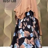 Hijab syari modern/abaya set hitam coklat daun/gamis jumbo syari/Daun