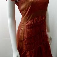 dress wanita orange gaun pesta dewasa baju dres cewe party kondangan L