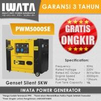 Genset Diesel IWATA 5Kva Silent - PWM5000SE