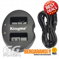 Kingma Charger Baterai 2 Slot Coolpix A Nikon J1 J2 J3 S`4CLU65- Black