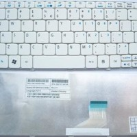 Keyboard Laptop Netbook Notebook Acer Aspire One Happy PUTIH