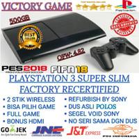 PS3 PS 3 SONY PLAYSTATION 3 SUPER SLIM 500GB OFW/PSN REFURBISH BY SONY