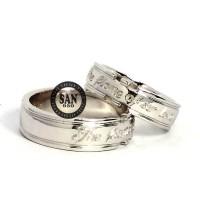 cincin nikah kawin couple emas putih 3380