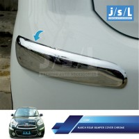 Nissan March List Bumper Depan JSL-Side Bumper Trim Chrome