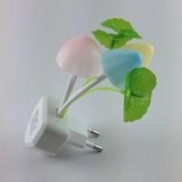 Lampu hias/tidur jamur sensor cahaya unik