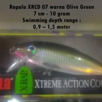 Rapala X Rap Countdown XRCD 07 warna Olive Green