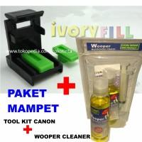 PAKET MAMPET : tool klip refill canon plus wooper head cleaner