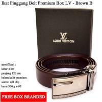 Ikat pinggang / sabuk / Gesper LV Premium Brown b