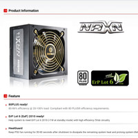 PSU / Power Supply Enermax NAXN 500W 80+ - ENP500AGT - 84% Efficiency