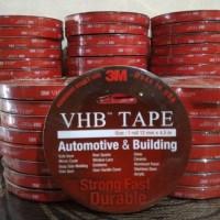 Double Tape 3M VHB Dobel Tip Mobil Motor 12mm x 4.5m Merah Original