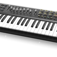Behringer Motor 49 Synthesizer Keyboard MIDI Controller with Drum Pad