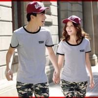 [Cp T-Shirt Levis Abu CL] couple baju combet abu