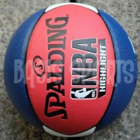ASLI - BOLA BASKET SPALDING NBA HIGHLIGHT COMPOSITE MARINE RED WHITE