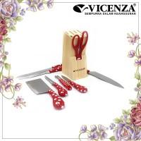 Vicenza Stainless Steel Polkadot Knife V918KP Merah